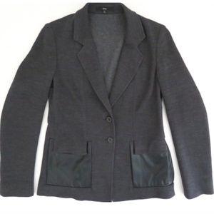 BOSS HUGO BOSS blazer jacket faux Leather trim
